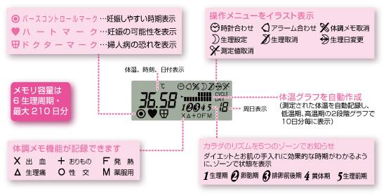 婦人 体温計